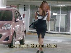 Car Park Thailand Ladyboy du Ramassage