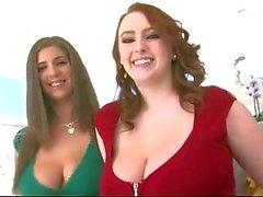 Big Natural Boobs - roodharige en brunette ! ! !