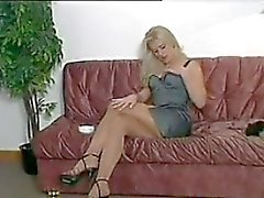 Le tabagisme Blonde Beauty Collants port de