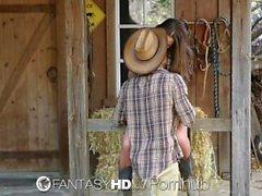 HD FantasyHD - för Cowgirl Dani Daniels rider balle på gårds