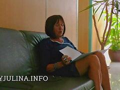 Office Mistress Högklackat Nylons anställningsintervju Lecksklave