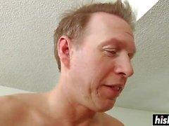 Two hotties share a big boner