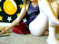 Сексуальная блондинка Kourtney Scarlett Solo Pussy Masturbation