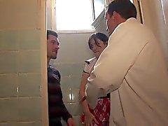 Sınıf A75 derin tuvalet Anal Sıcak kız öğrenci blowjobs