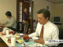 Subtitled bisarra japanska bottenlös ingen trosor hus