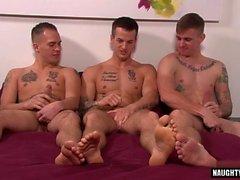 Big Dick Homosexuell Dreier mit Cumshot