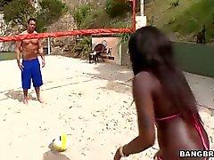 Incredibly sexy black bikini babe Tatiyana Foxx