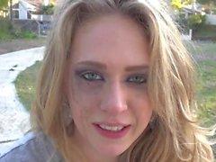 Kagney Linn Karter Smoking (with ruined make-up)