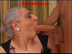 granny kuuma iso kalu italialainen - nonna Scopa Cazzo kun Giovane sähköisen Duron