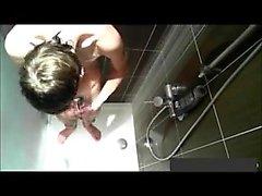 a bath is taken by teen man