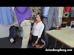 Asian Beauty Mila Джейд сосание две темные Dinks На Очистители