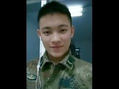 19y Chinese soldier in the barracks office masturbation
