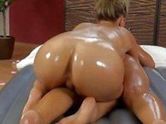 Slippery massage lesbians sex
