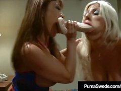 Busty Blonde Puma Swede Delivers Pizza & A Strap On Cock!