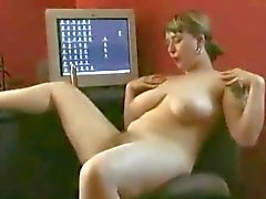 Horny Fat Chubby Teen plays with her hairy Pussy