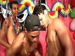 Latino Gay Threesome Bareback Sex