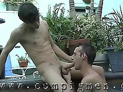 Mason meets David out at the whirlpool and gives him a blow
