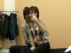 Lumoava Japanin tyttö terhakka tissit voi odottaa b