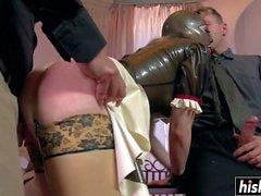 Two dicks please naughty Lucy Latex