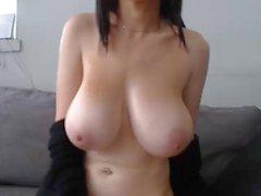 giant lovely boobs mastubates, no face :(