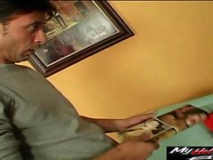 Tanner Mayes is a brunette teen gets horny after watching...