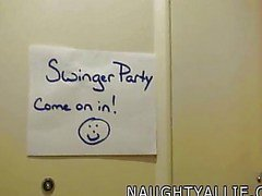 Join me op een swinger party