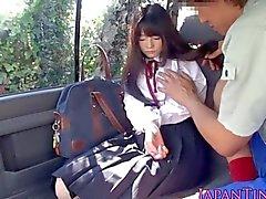 Diminuta desembocadura colegiala Japanese follada
