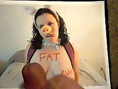 Tribut zu einem fette Schwein