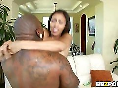 Busty pierced nippled hottie Cherry Hilson fucks thirteen inches ebony dick