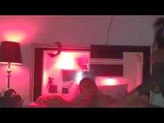 Chambre de prostituée de lumière rouge