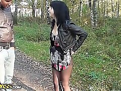 Warm Abholung verdammtes in den Wald