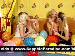 İnanılmaz esmer ve büyük bir dört yol lezbo alem öpüşme sarışın lesbos