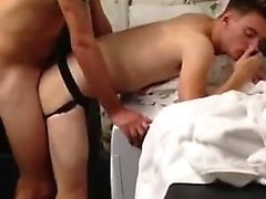 A twink is fucked by security