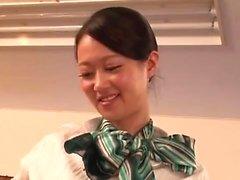 vagabunda adolescente asiática em boquete POV