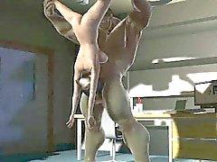Cartone animato Bambina sexy in 3D soffiando The Incredible carcassa
