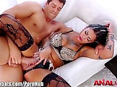 AnalAcrobats Bonnie Rotten DP'd, gangbanged ve squirt