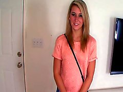 Shy Long haired girl gets so Damn Wet during Audition