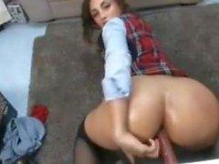 Schoolgirl Webcam Anal Dildo'da