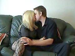 Chav kypsä lutka nai sohvalla