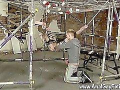 Homosexuell Video Geschiebe einige massive Lassen Spielzeug in Milo, wird Reece hallo