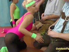 flexi aerobic lederhosen gangbang orgy