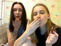 Lesbiana con tetas grandes bbw en la webcam