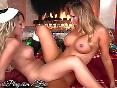 When Girls Play - Two busty lesbians warm up