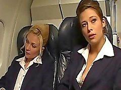 Hot and horny air hostesses