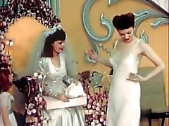 Vintage de mariée Lingerie Défilé de