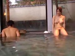 Boobs japoneses grandes no chuveiro