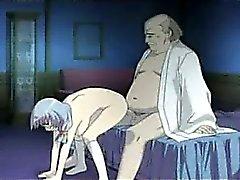 Гадкий мужик трахает с роговые девочка