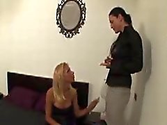 Blonde Transexual Has Her Dong Sucked By A Horny Brunette