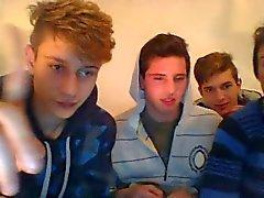 Fyra Str8 Italien Barn går Glad , ha kul på webbkamera ( eller Homosexuella ? )