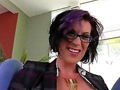 Big boobs mature tranny River Stark gets her asshole rammed